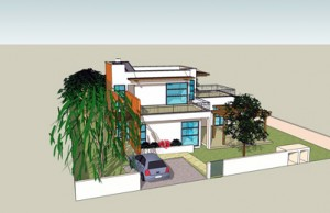 בית משפחת אבני, חזית הרחוב