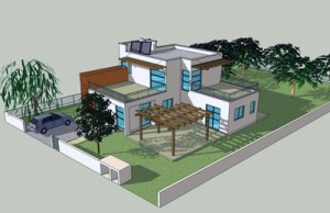 בית משפחת אבני, מראה המרפסות