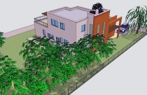 בית משפחת אבני, חזית אחורית