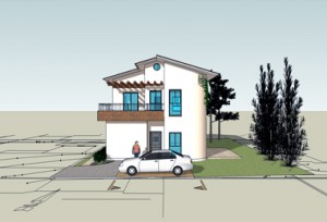 בית משפחת כהן, חזית ראשית