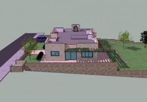 בית משפחת לוי, חזית דרומית