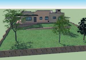 בית משפחת לוי, מראה הגינה