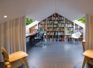 חדר עבודה בעליית גג