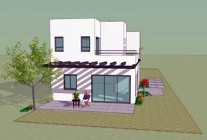 בית משפחת תשובה - מרפסת צפונית