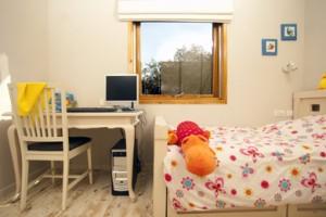חדר שינה לילדה הסגנון רומנטי