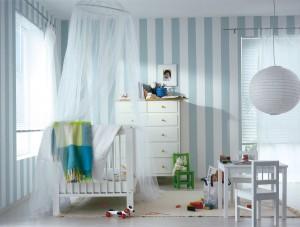שימוש בגווני אפור- כחול בחדר משולב לפעוטות (קרדיט: אתר טמבור)