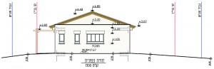 בית משפחת עוגן, חזית צד