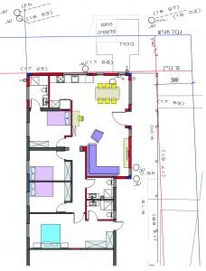 בית משפחת עוגן, תוכנית אדריכלית