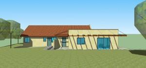 בית משפחת רחמני, חזית ראשית