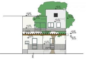 בית משפחת סיגל, חזית אחורית