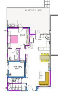 בית משפחת סיגל, תוכנית קומת קרקע