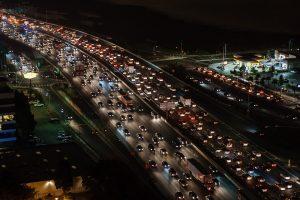 זיהום אור - ריבוי כבישים