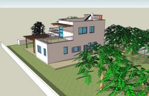 בית משפחת אבני, חזית דרום מזרחית