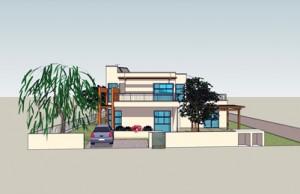 בית משפחת אבני, חזית ראשית
