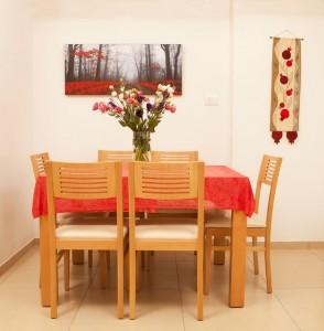 דירת משפחת טבצ'ניק, עיצוב פינת האוכל
