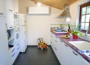 מבט פנורמי על המטבח
