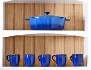 סירים כחולים - תוספת צבע במטבח