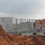 מבט על שלד פלדה בבנייה קלה