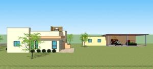 בית משפחת לוינסון, מבנה מגורים ומבני משק