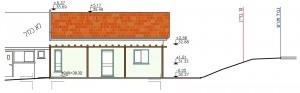 בית משפחת גולדברג, חזית קדמית