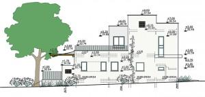 בית משפחת סיגל, חזית צד