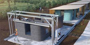 בתים מודפסים מבטון