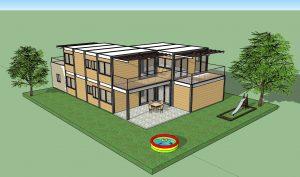 בנייה במכולות משא - בית מודולרי