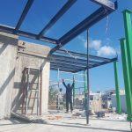 בניית שלד פלדה קורות גג שטוח