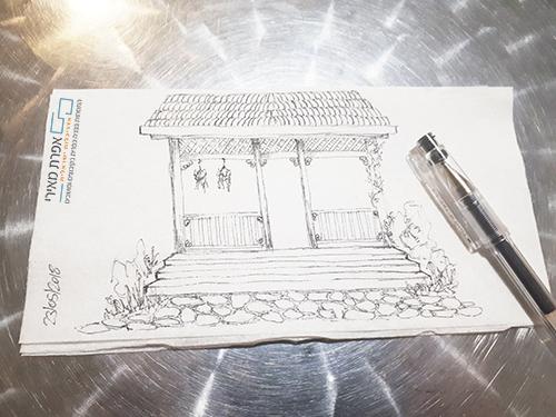 כניסה לבית בסגנון כפרי