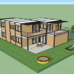 בית מגורים ממכולות בשתי קומות