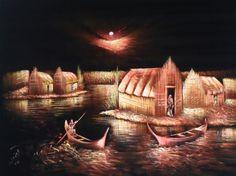 כפר שבט המדאן בלילה